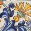 Antique pottery Spanish tile