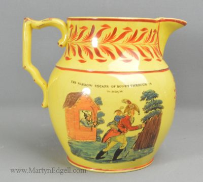 Antique commemorative pottery jug