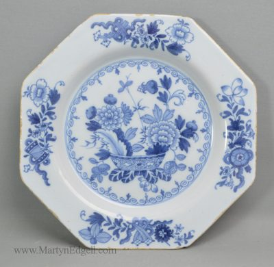 Antique Dublin delft plate