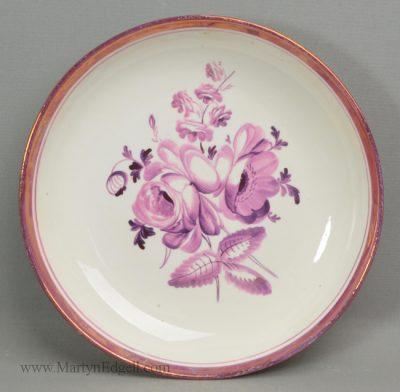 Antique lustre porcelain dish