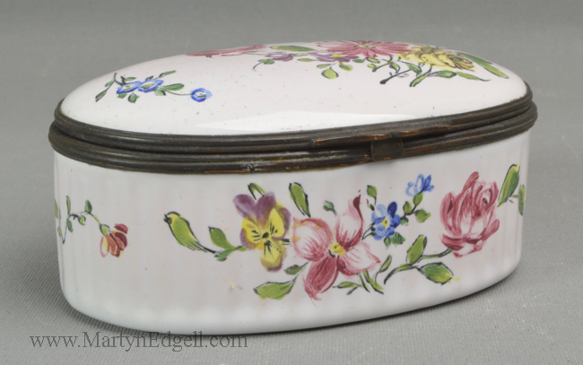 Antique pottery French box