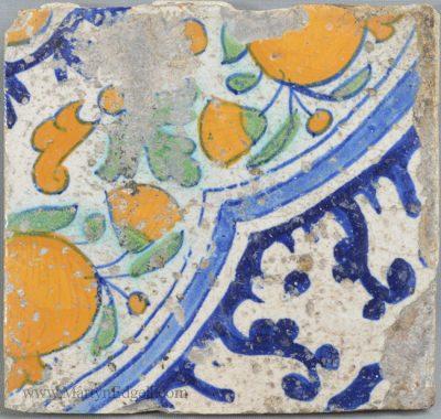 Antique pottery delft tile