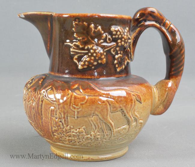 Antique saltglaze stoneware jug