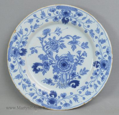 Antique Liverpool delft plate