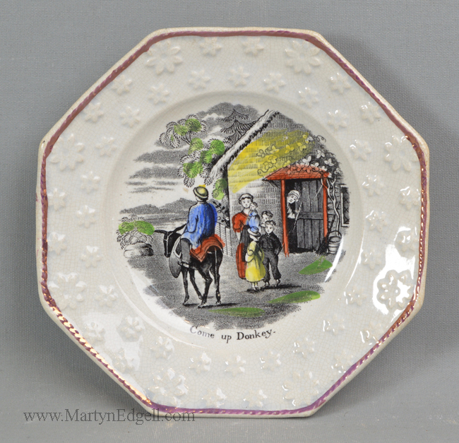 Antique pearlware pottery plate