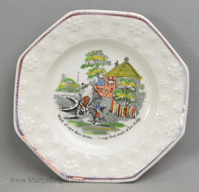 Antique child's pearlware plate