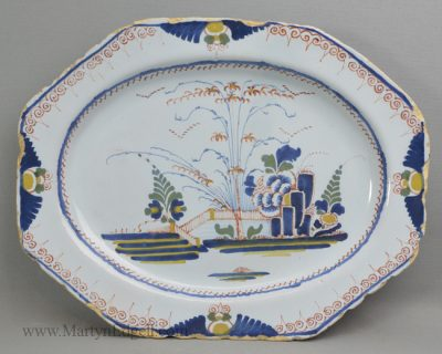 Antique delft meat plate