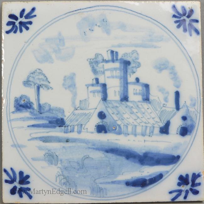 Antique Bristol delft tile