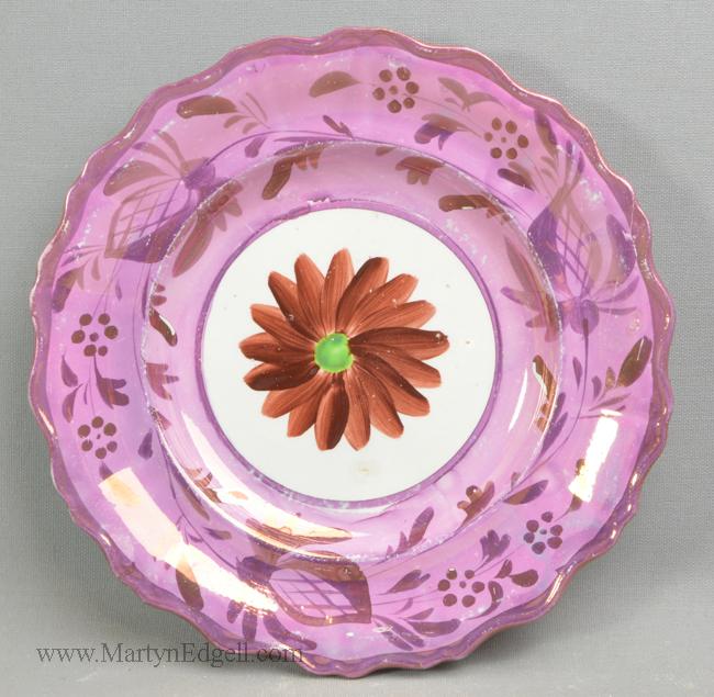 Antique lustre plate