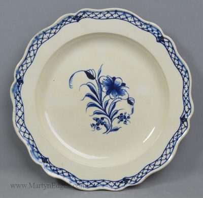 Antique creamware pottery plate
