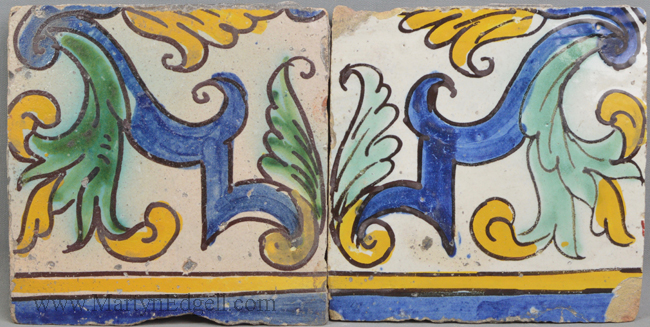 Antique Spanish floor tiles