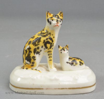 Antique porcelain cats