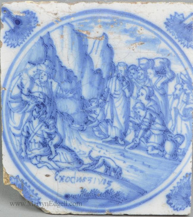 Antique Dutch delft tile