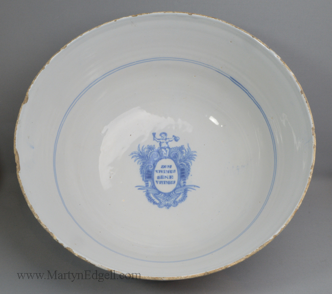 Antique Liverpool delft bowl