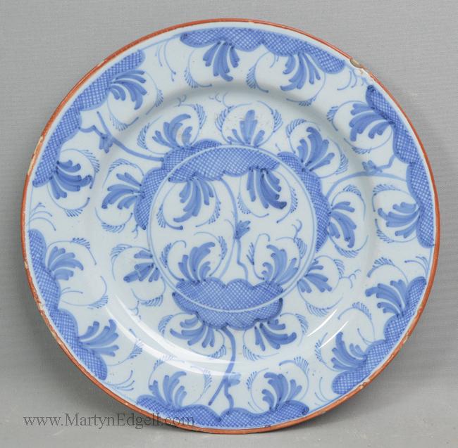 Antique Liverpool delft plate