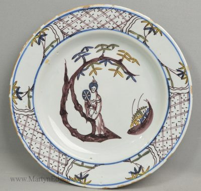 Antique Bristol delft plate