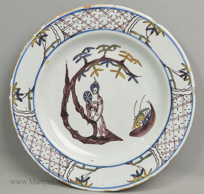 Antique Bristol delft plate