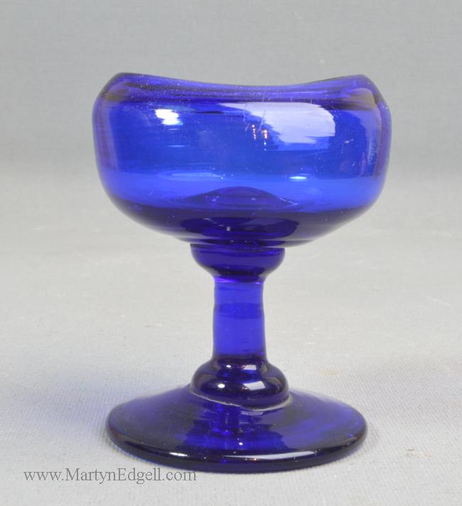 Antique blue glass eye bath