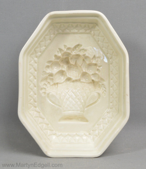 Antique creamware pottery mould