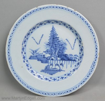 Antique London delft plate