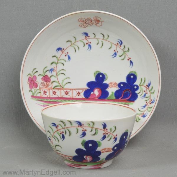 Antique porcelain teabowl & saucer