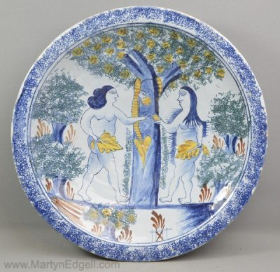 Antique London delft charger