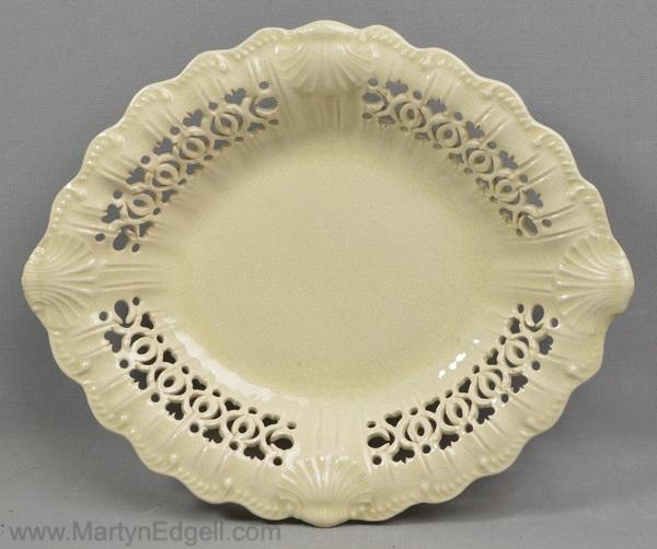 Antique creamware dish