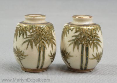 Antique Satsuma vases