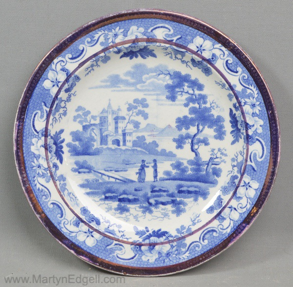 Antique pearlware plate