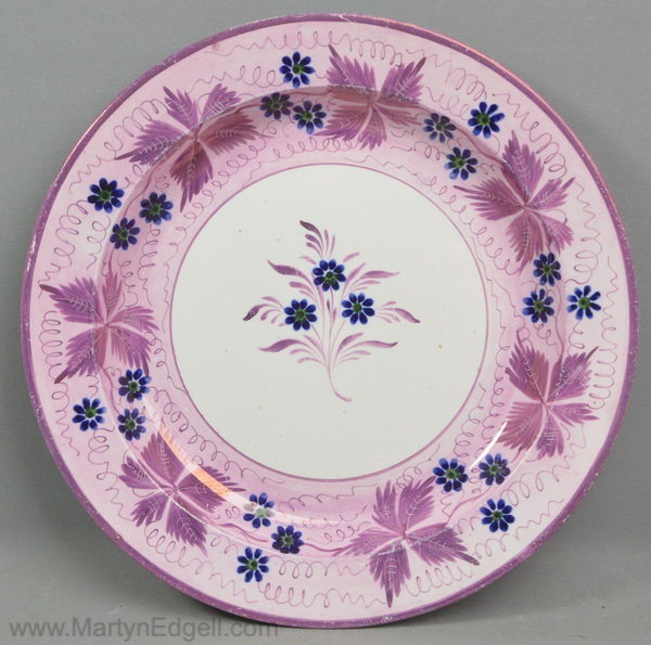 Antique lustre plate