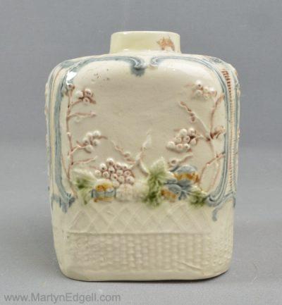 Antique creamware tea canister