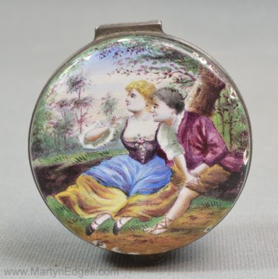 Antique Vienna enamel box