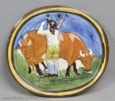 Antique prattware plaque