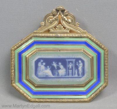 Antique Enamel letter clip
