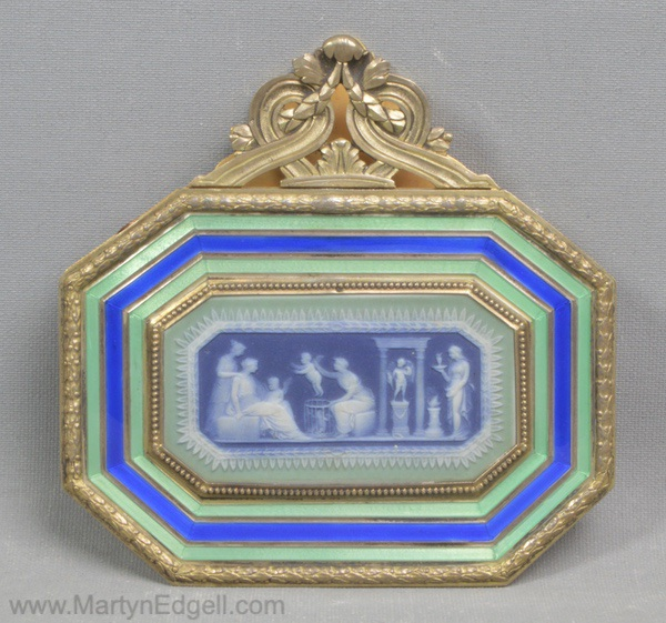 Antique Enamel letter clip