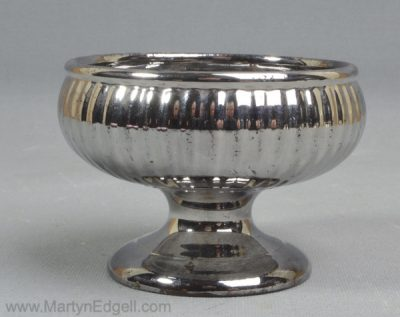 Antique silver lustre salt