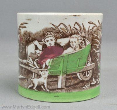 Antique pearlware mug