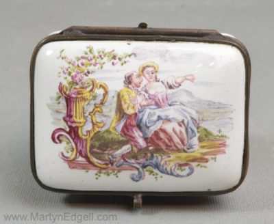 Antique French faience box