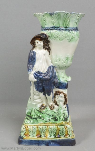 Antique pearlware figure