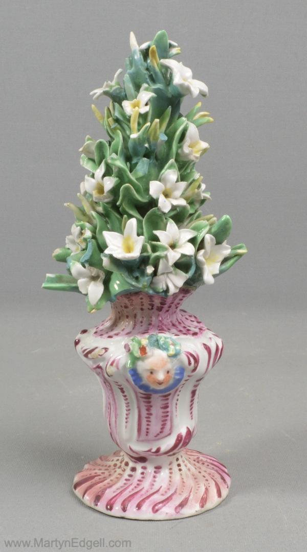 Antique Bow porcelain flower vase
