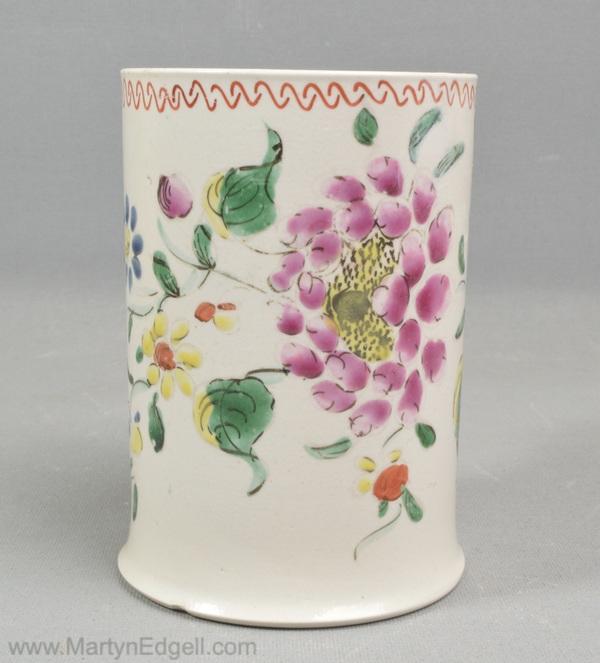 Antique saltglaze stoneware mug