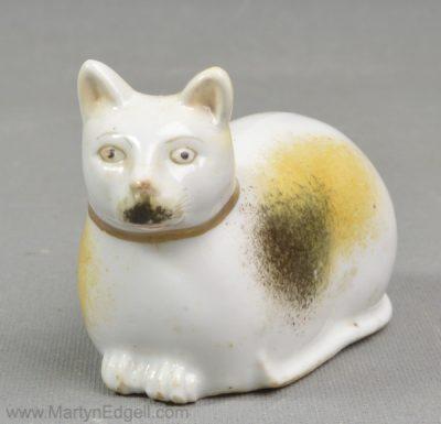 Antique porcelain cat