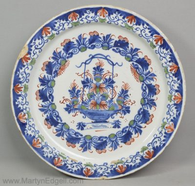 Antique Bristol delft charger