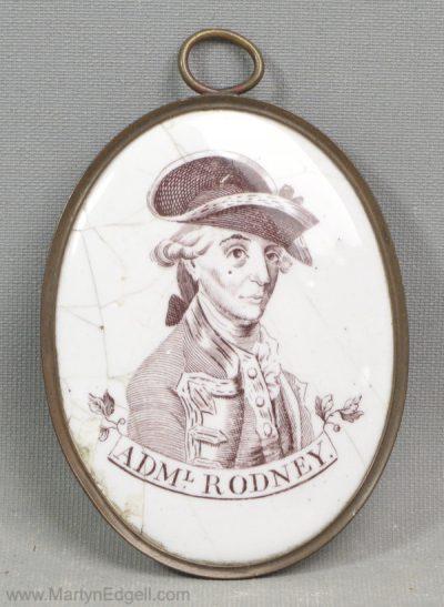 Antique Bilston enamel plaque