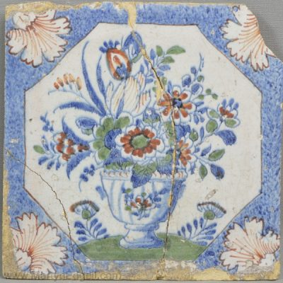 Antique London delft tile