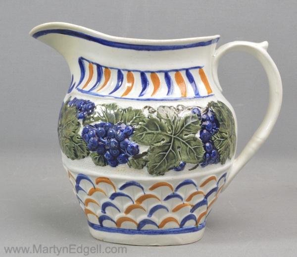 Antique prattware jug