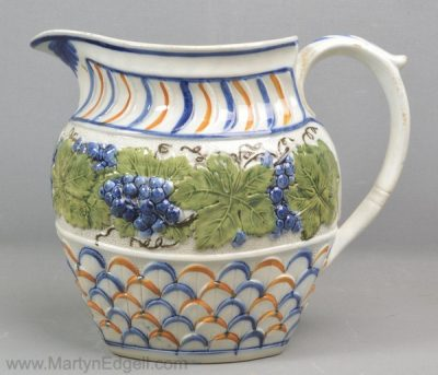 Antique prattware jug