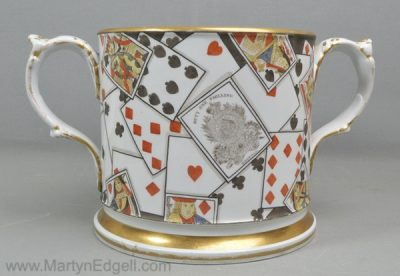 Antique pearlware loving cup