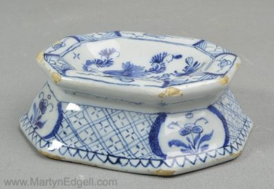 Antique Dutch Delft salt