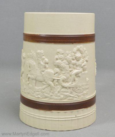 Antique turner stoneware mug